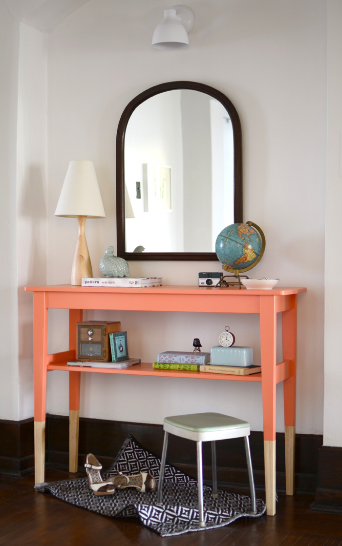 Ikea svalbo dipped furniture hack the sweet beast for Painted foyer tables