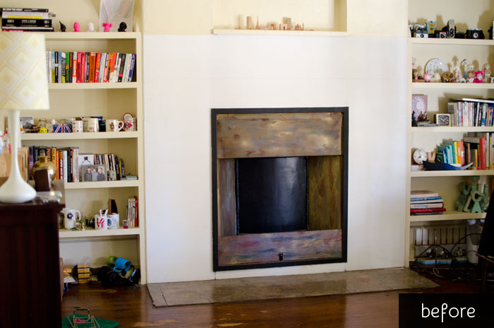 Living Room Fireplace Restored How To Remove Paint From