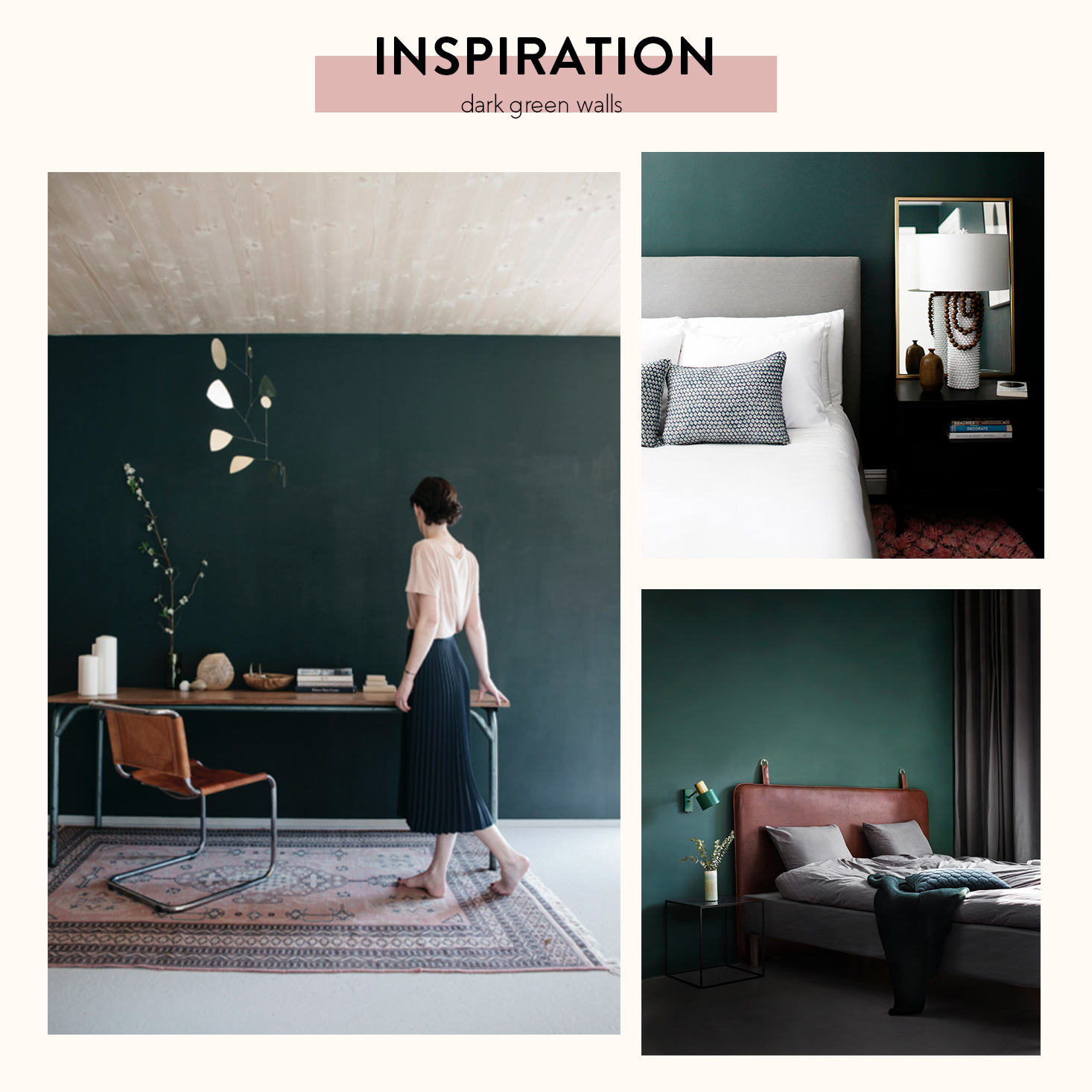 Fabulous Deep Green Bedroom Inspiration The Sweet Beast Beutiful Home Inspiration Cosmmahrainfo