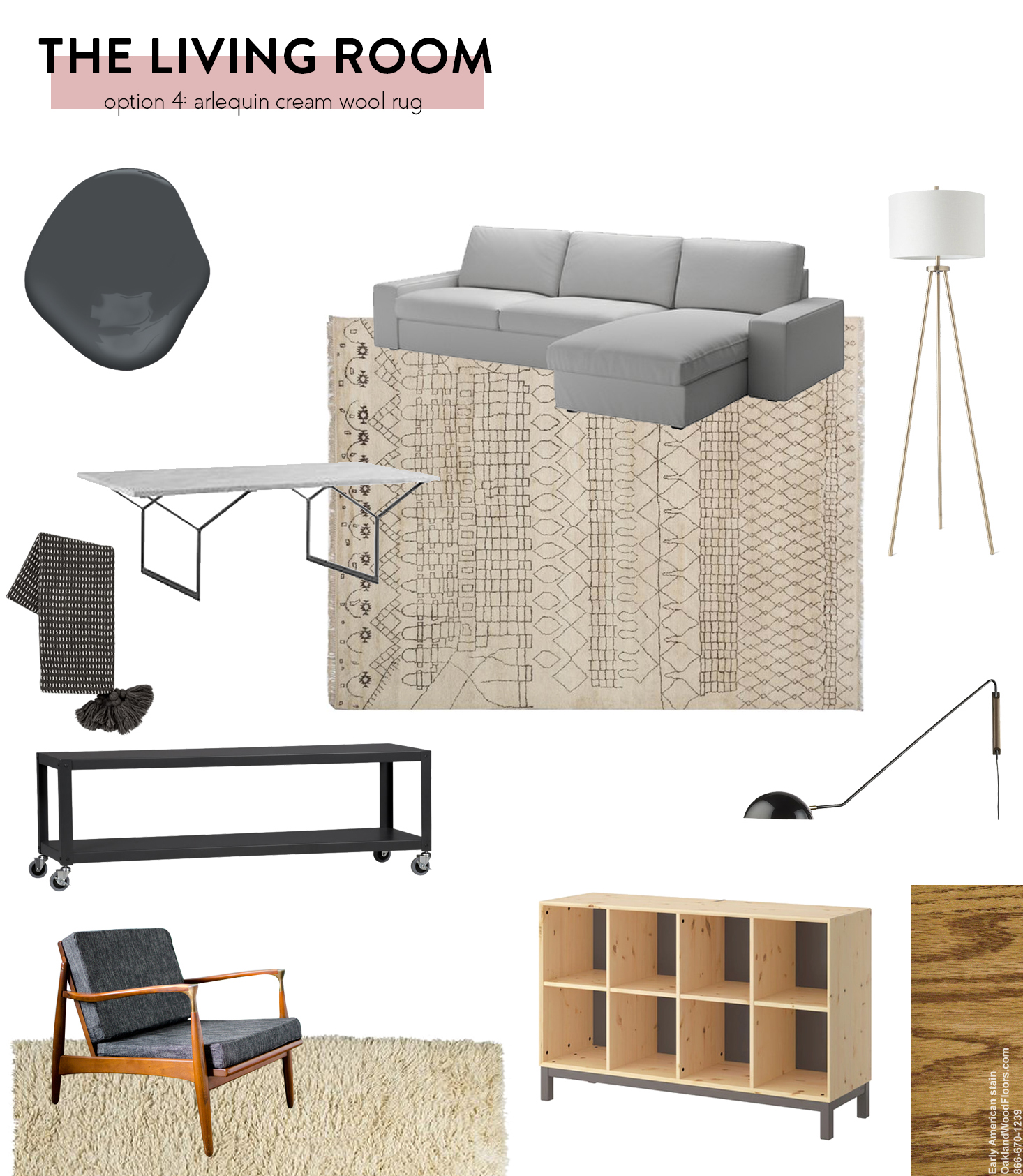 Pairing a Neutral Rug with Moody Walls | The Sweet Beast