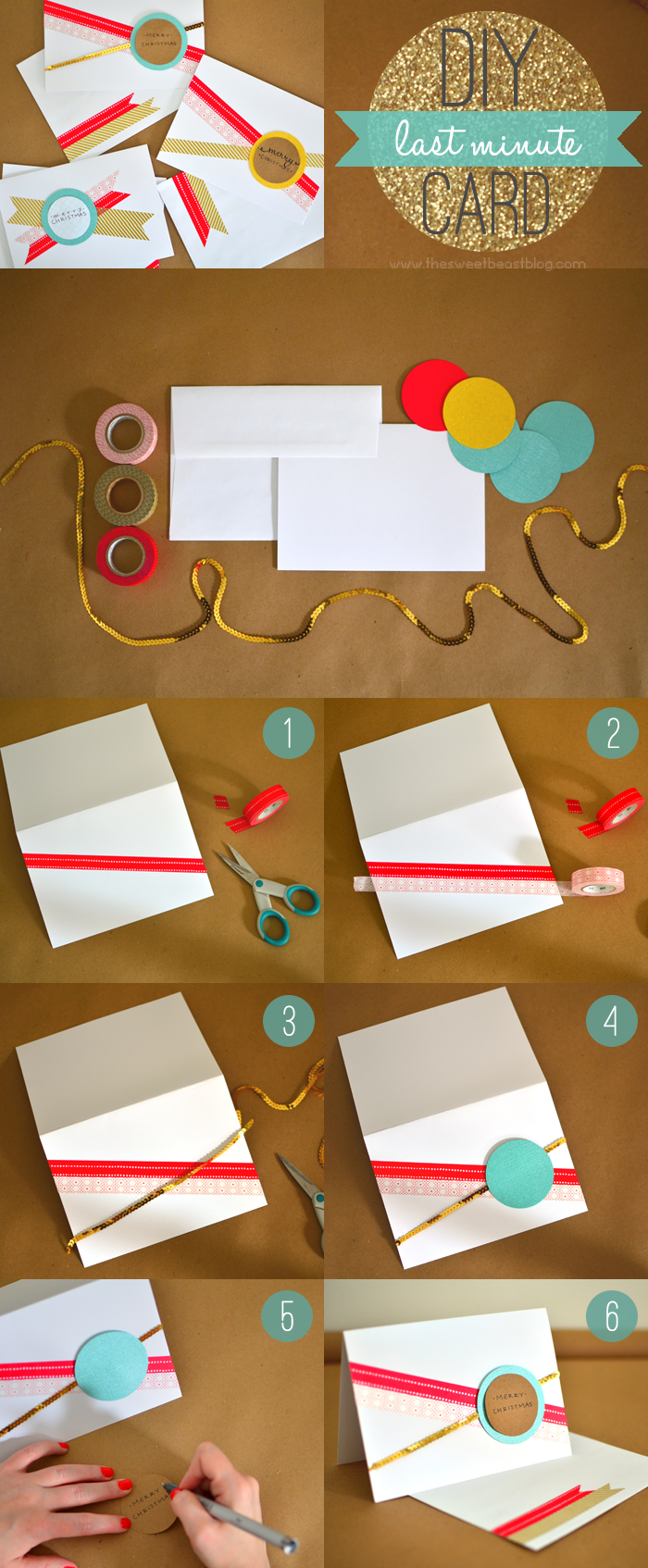 Diy Last Minute Greeting Cards The Sweet Beast