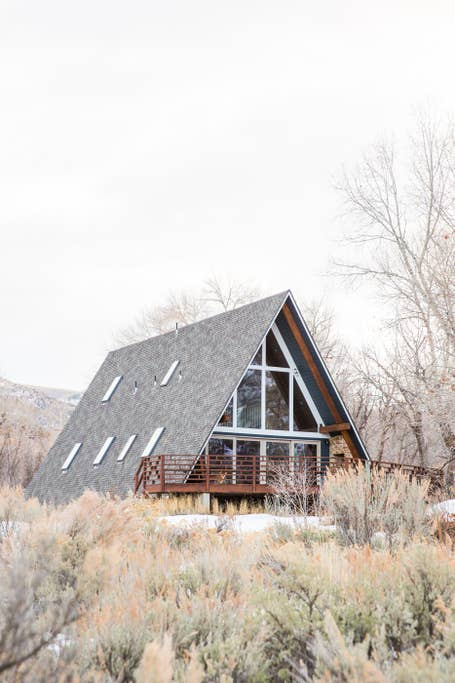 A-frame house exterior