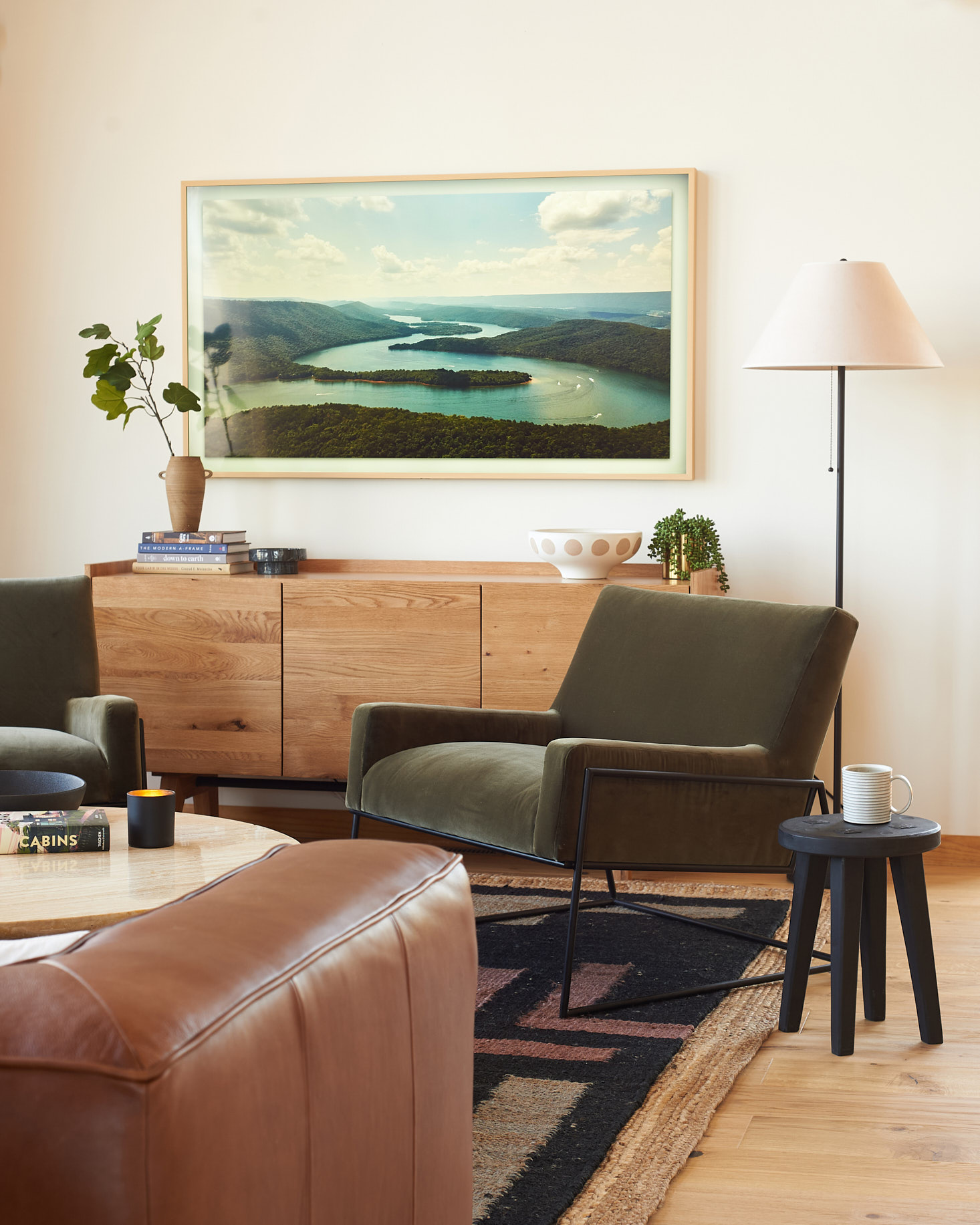 Article Madera Sideboard and Regis Chair
