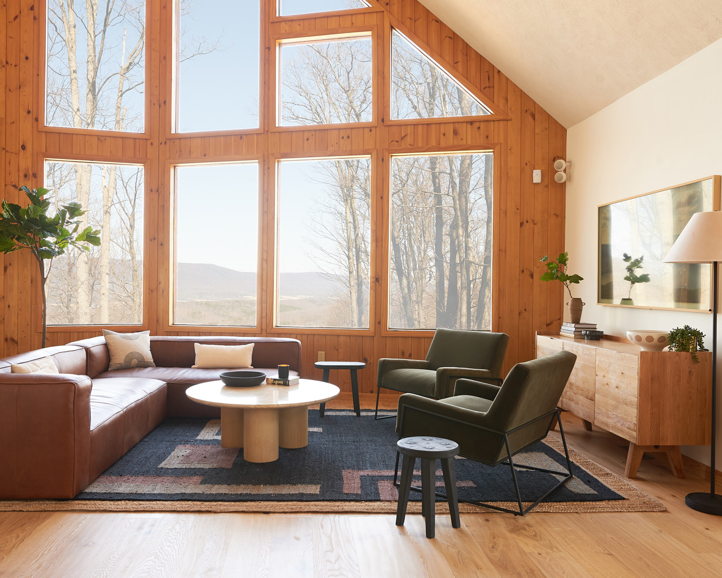 a-frame cabin with article furniture