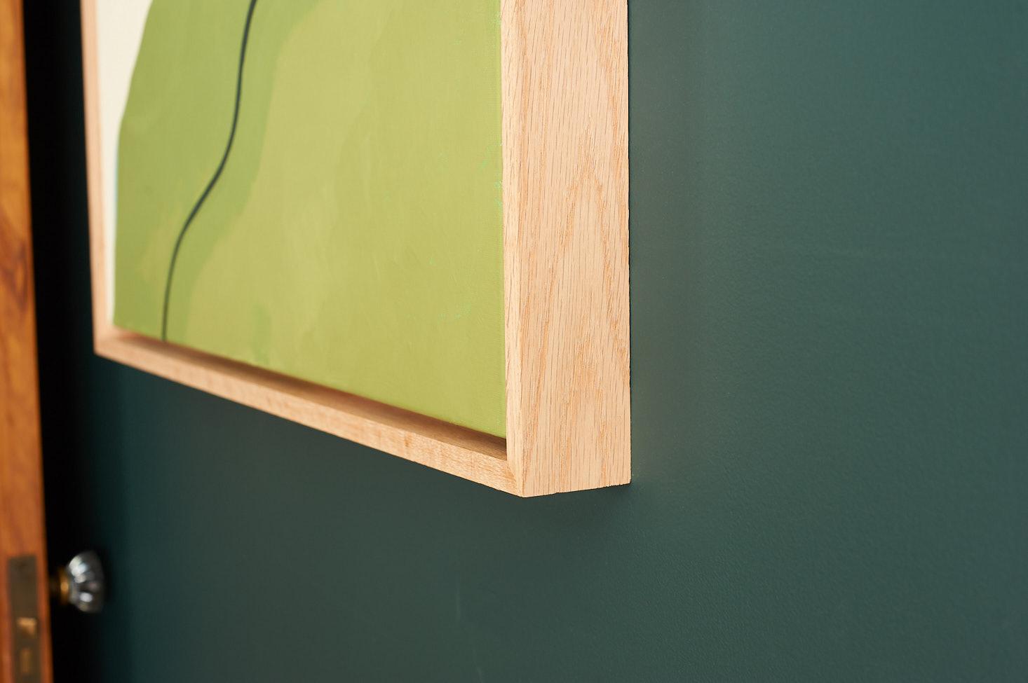 0cfc5d29481 Oak Float Frame Detail. Oak Canvas Frame