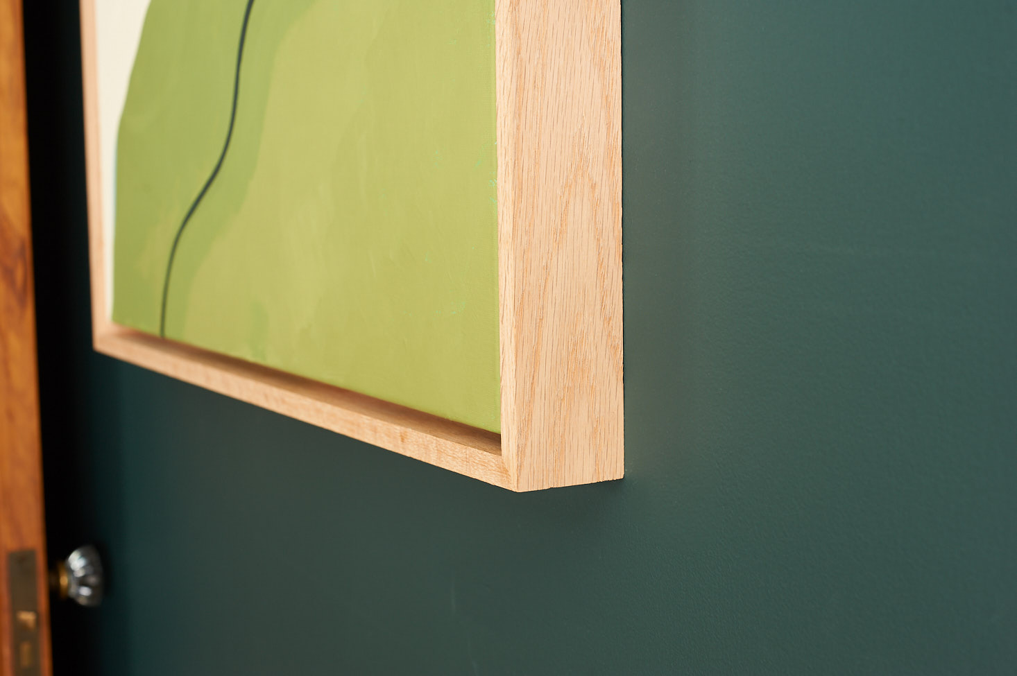 floating frame for canvas DIY Wood Canvas Float Frame | The Sweet Beast floating frame for canvas