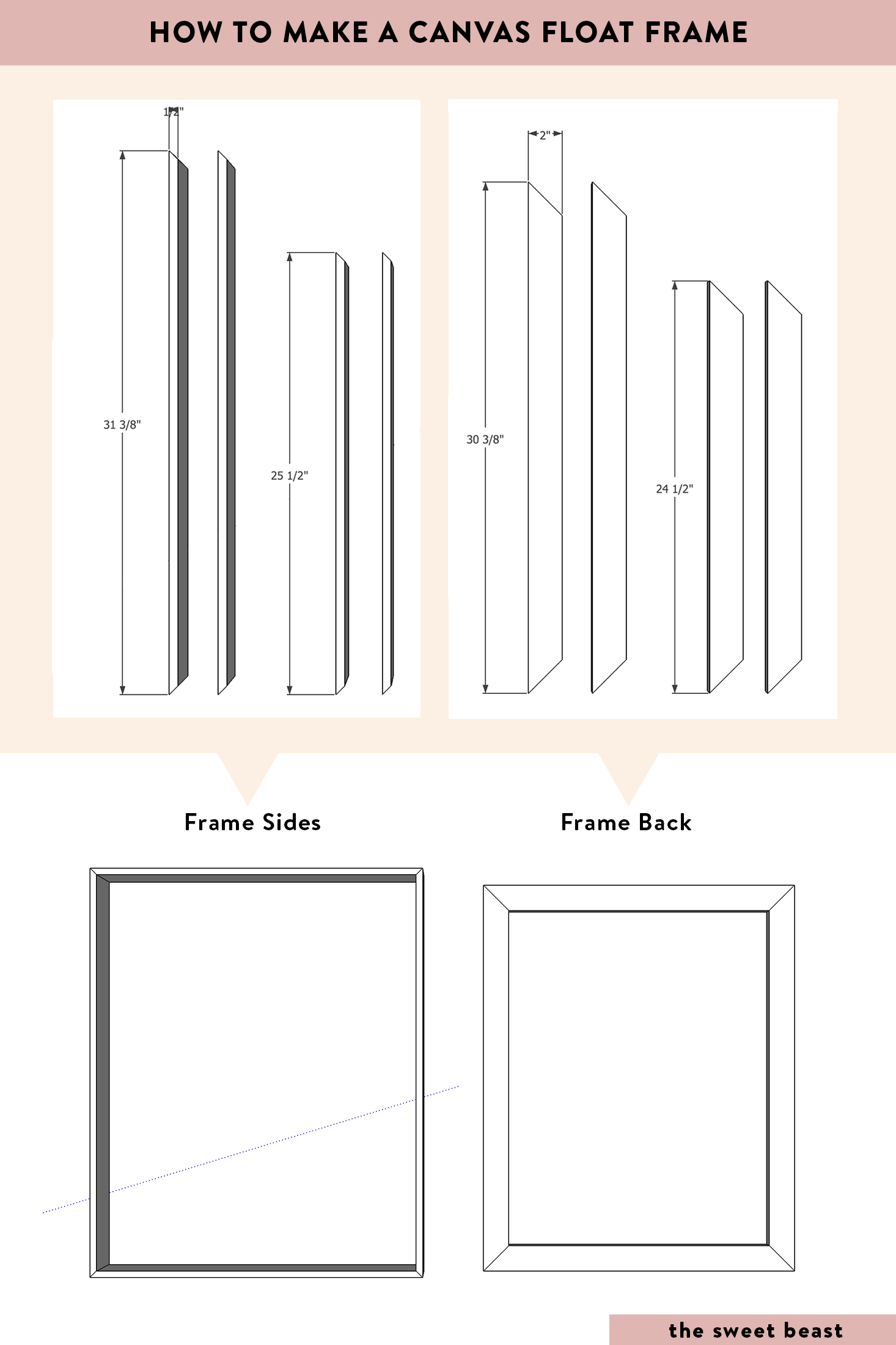How to Make a Canvas Float Frame