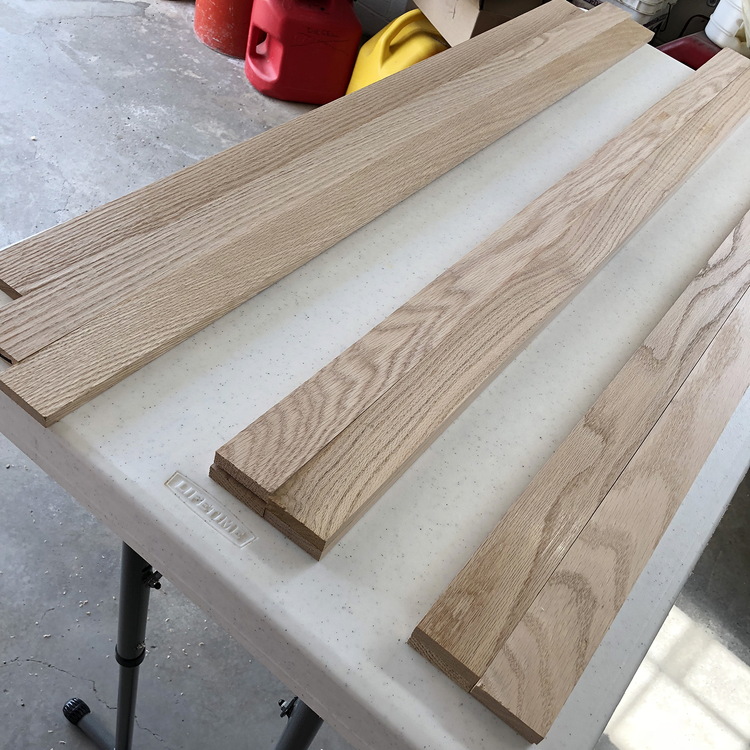 Grouping oak planks by grain