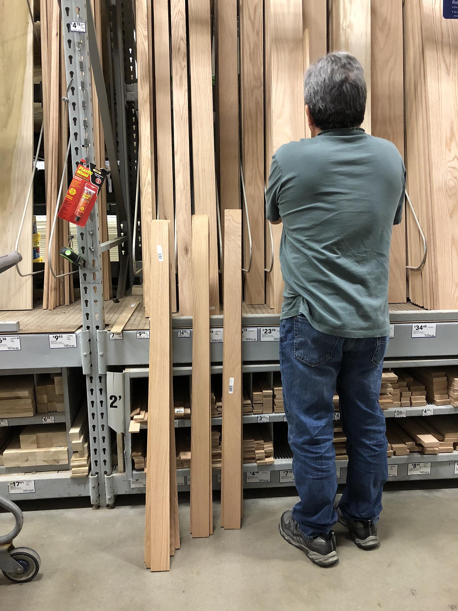 Organizing wood planks