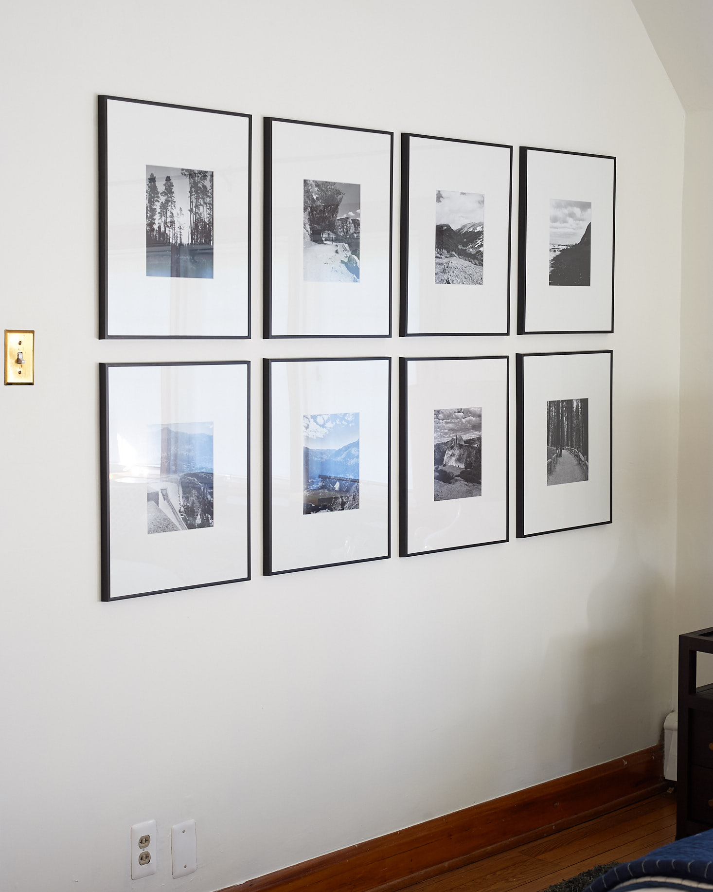 Budget Thin Frame Chunky Mat Gallery Grid