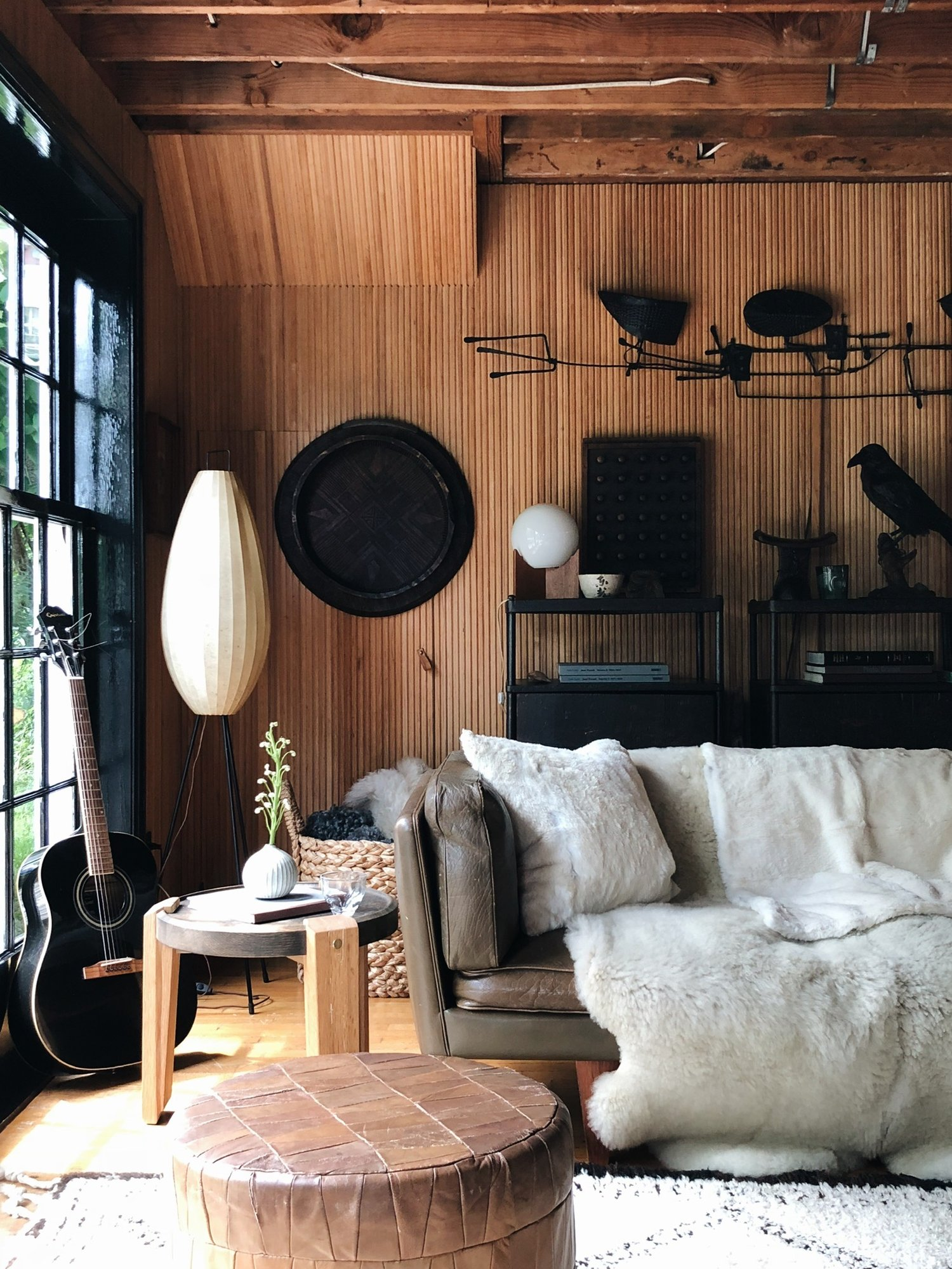 Wood Slats and Black Accents by Colin King Interiors