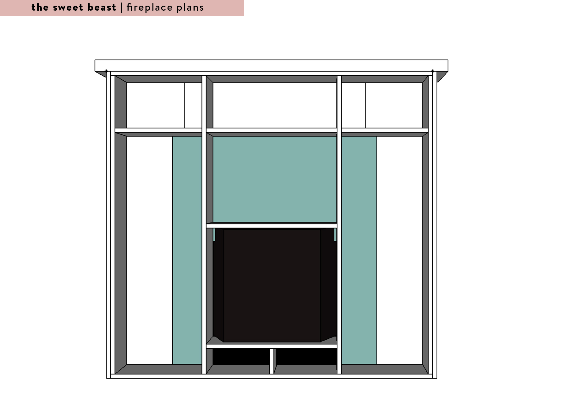 Sketchup Fireplace Plans Master Bedroom Fireplace Framing View