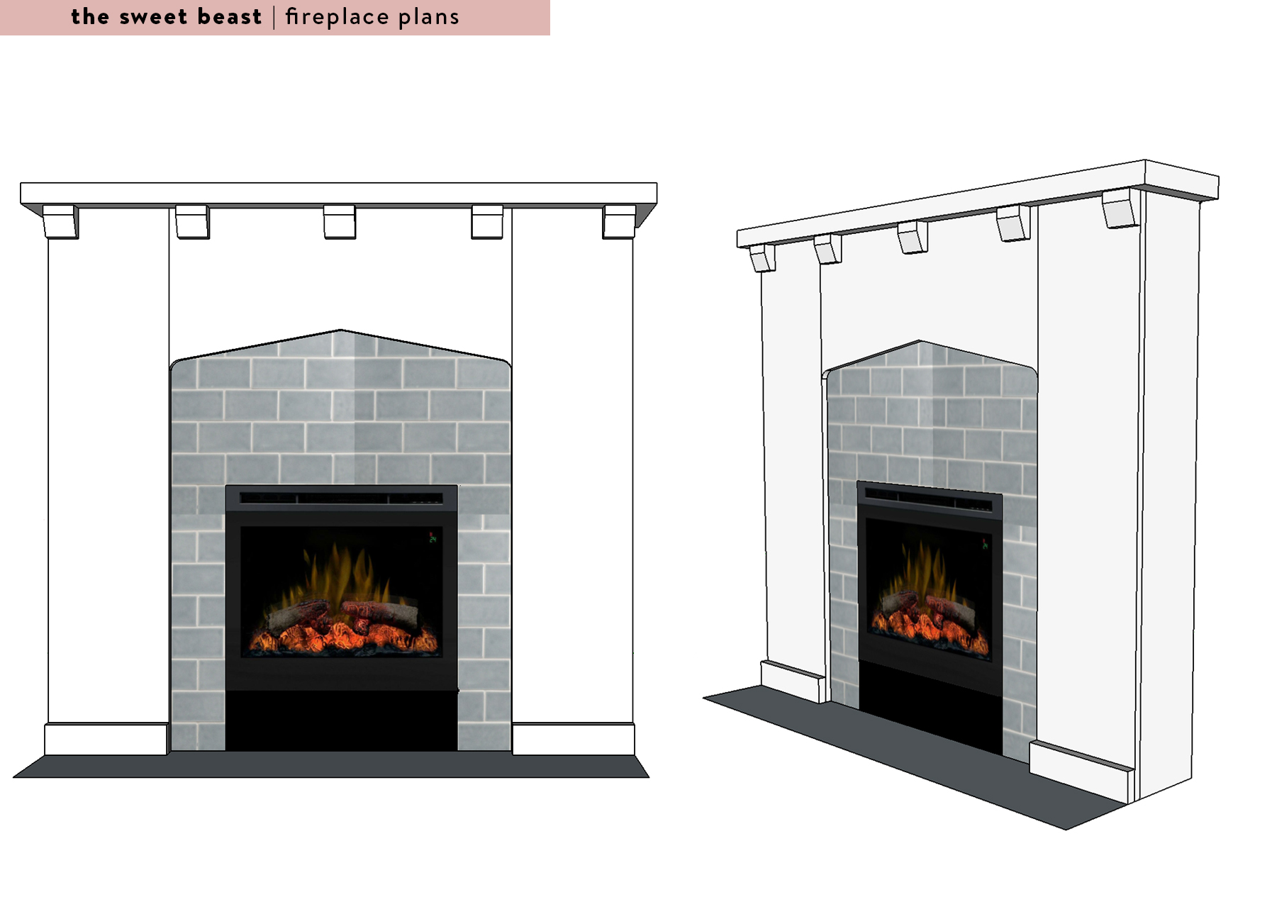 Sketchup Fireplace Plans