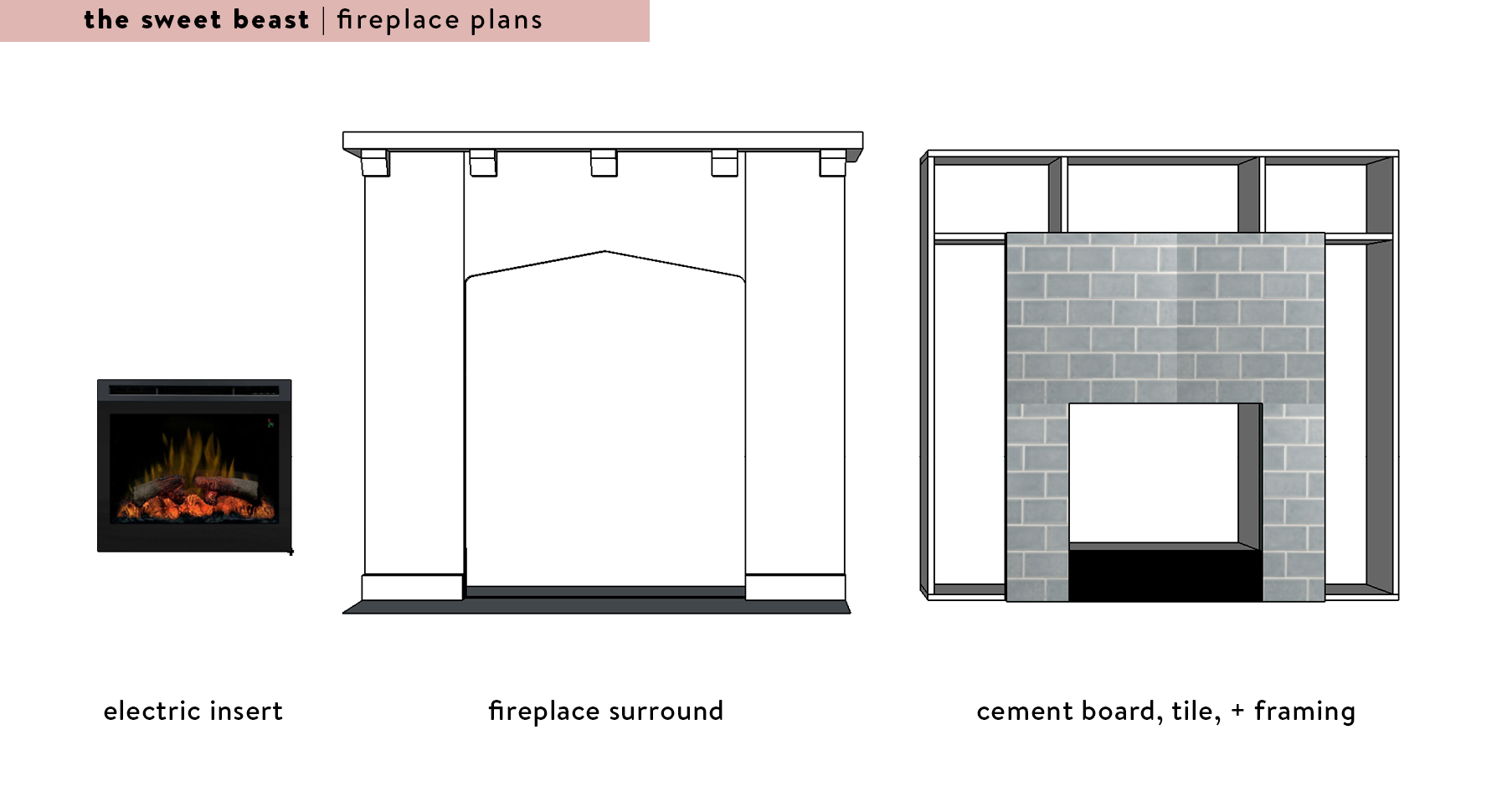 fireplace surround deconstructed diagram