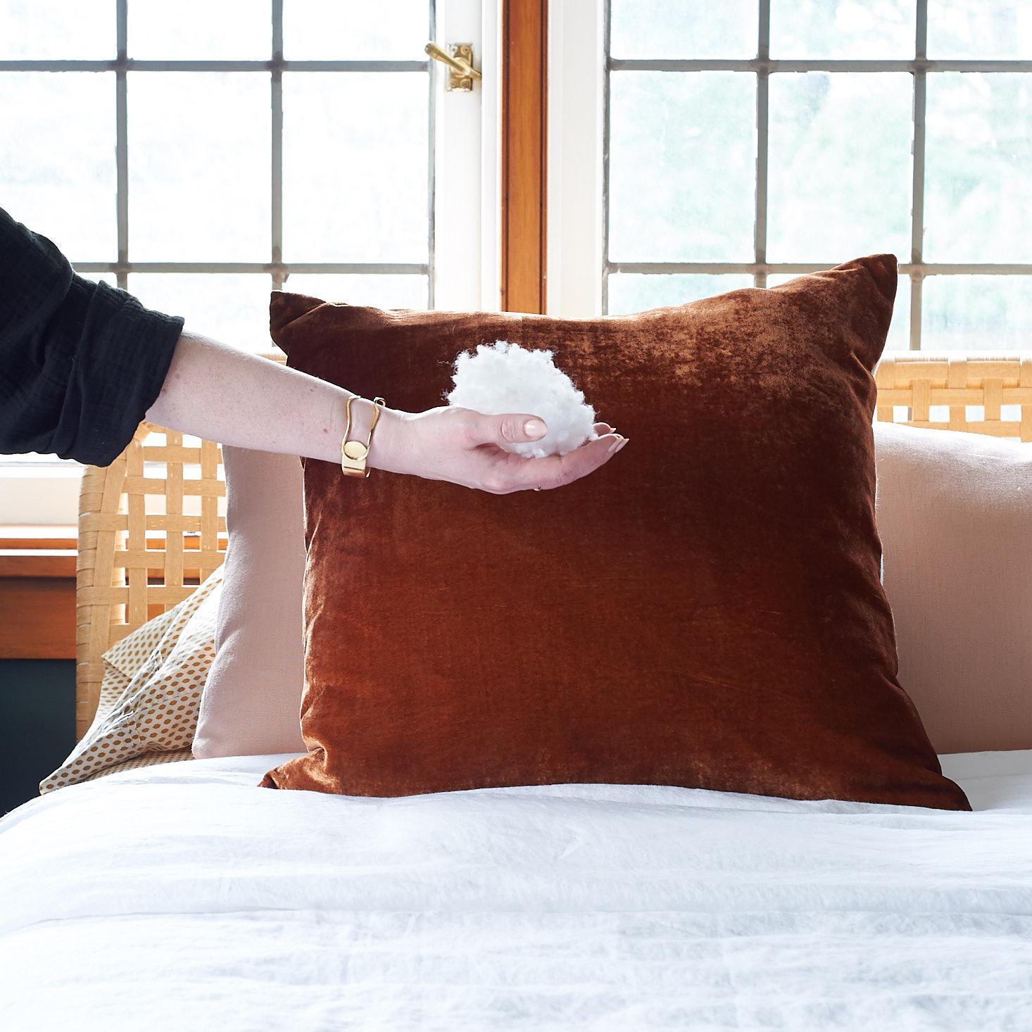 Fiber Fill to Stuff Pillow Corners