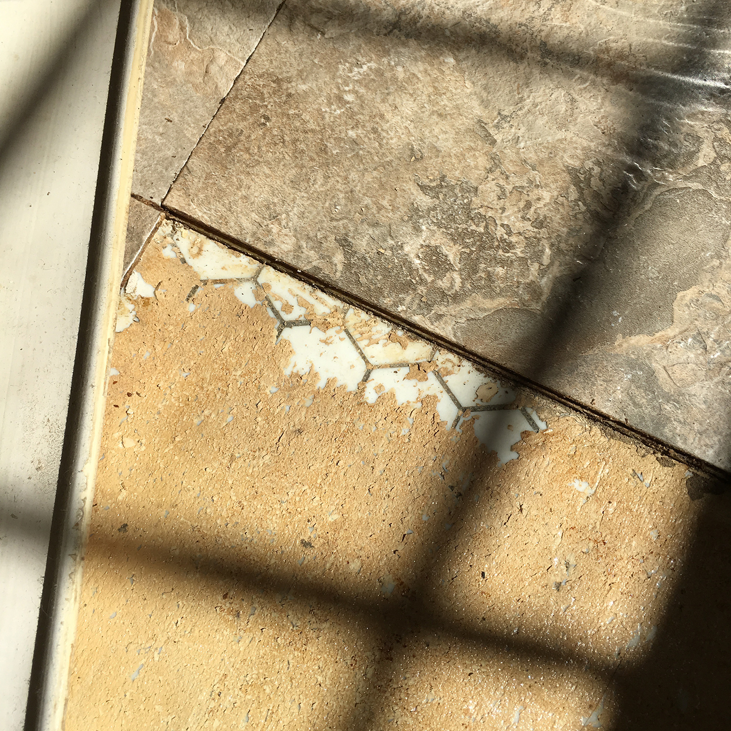 Before - The Powder Room - Original Tile Discovery | The Sweet Beast Blog