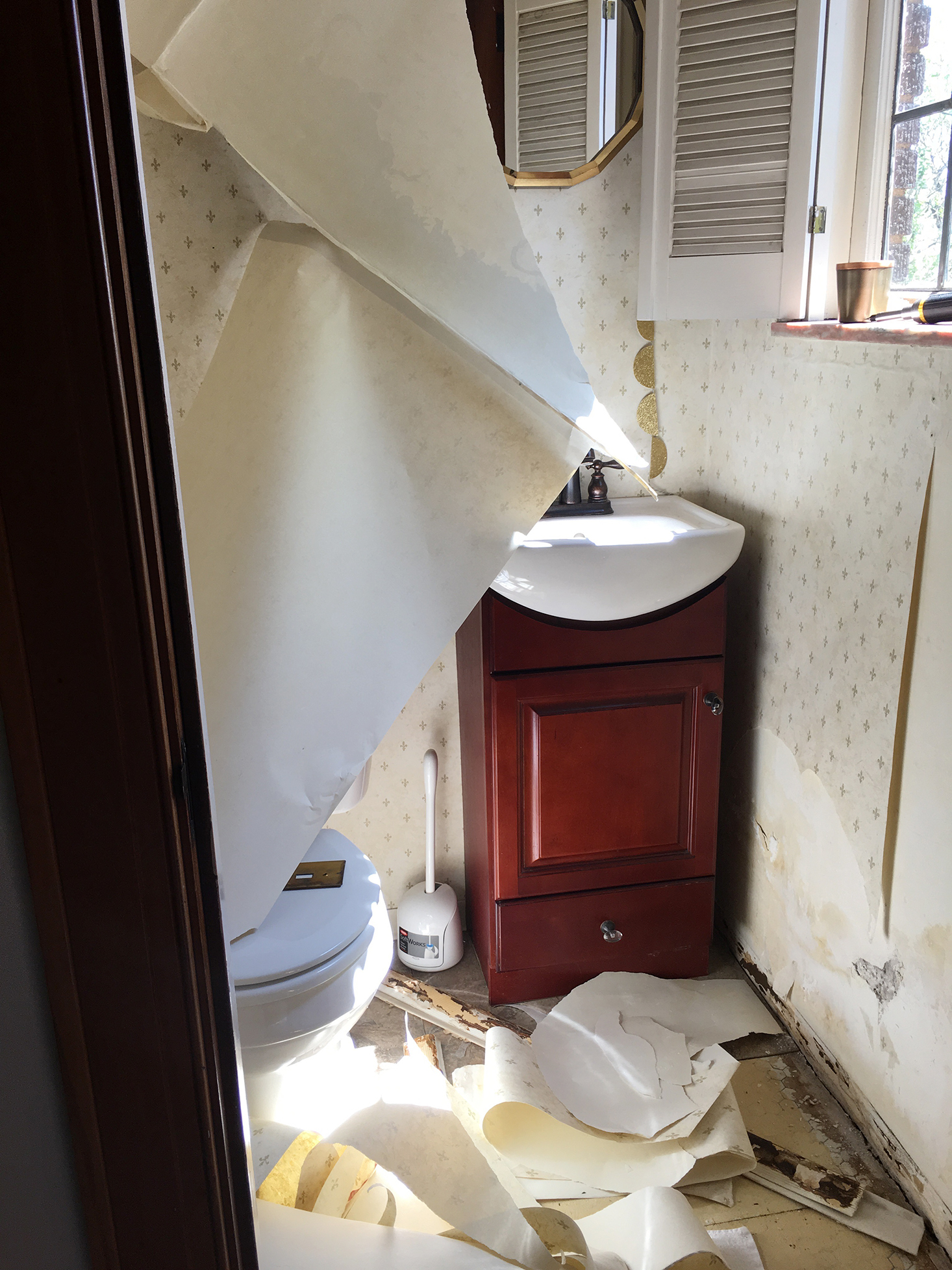 The Powder Room - Before | The Sweet Beast Blog