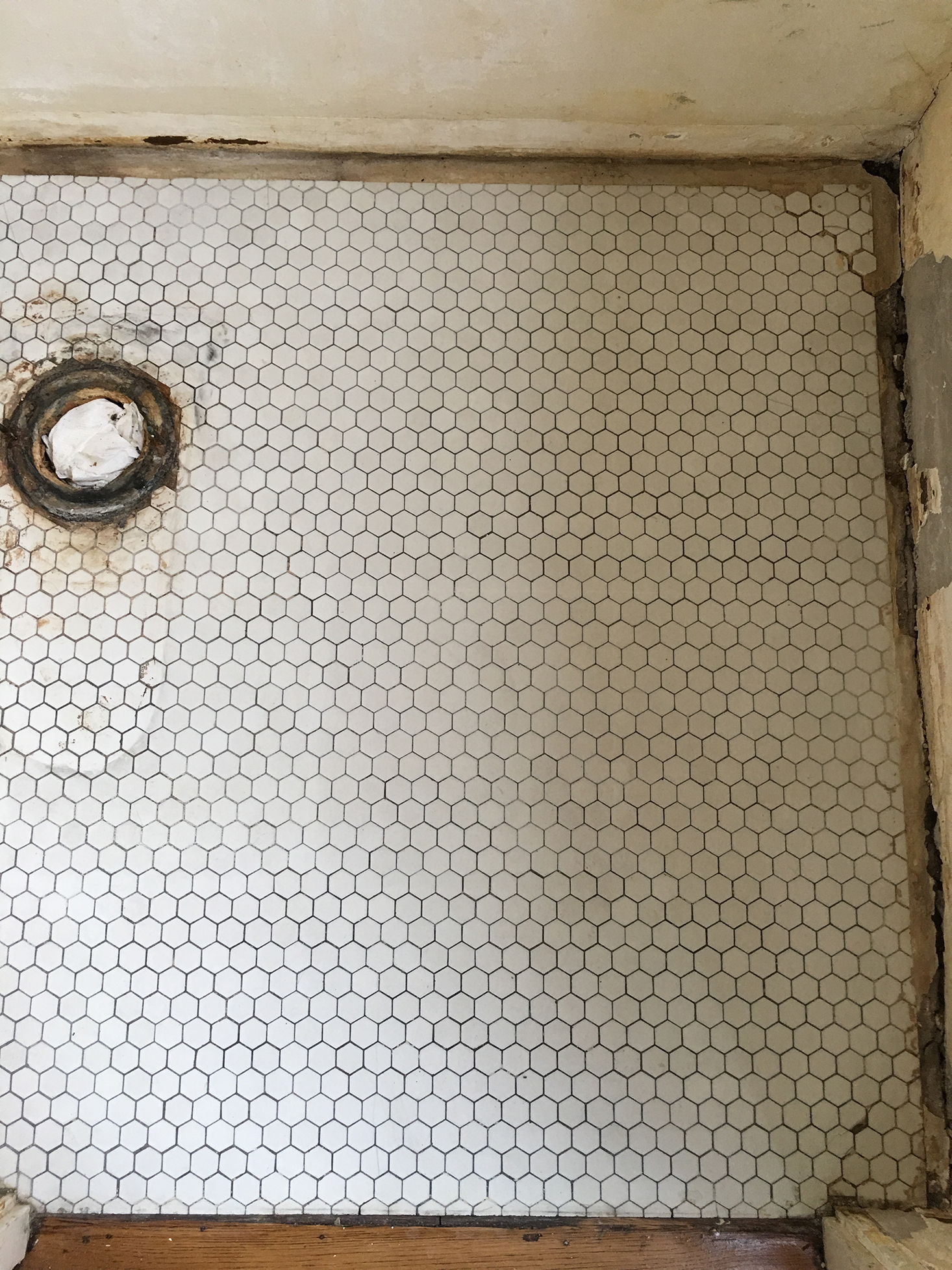 Removing Adhesive from Old Tile | The Sweet Beast Blog