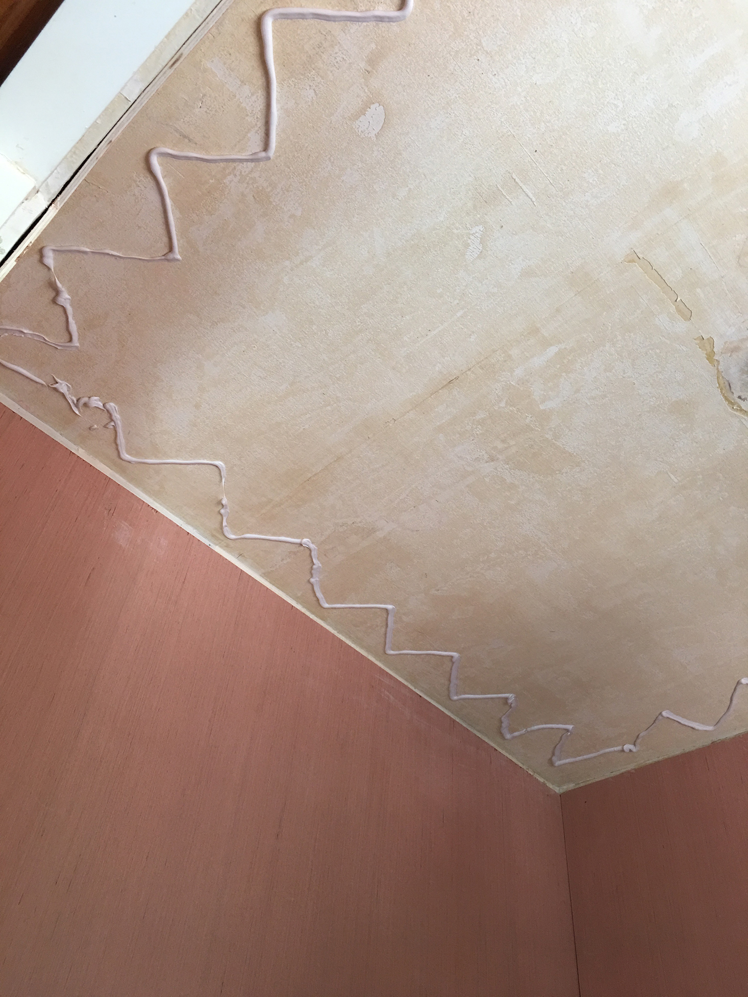Gluing the Ceiling | The Sweet Beast Blog