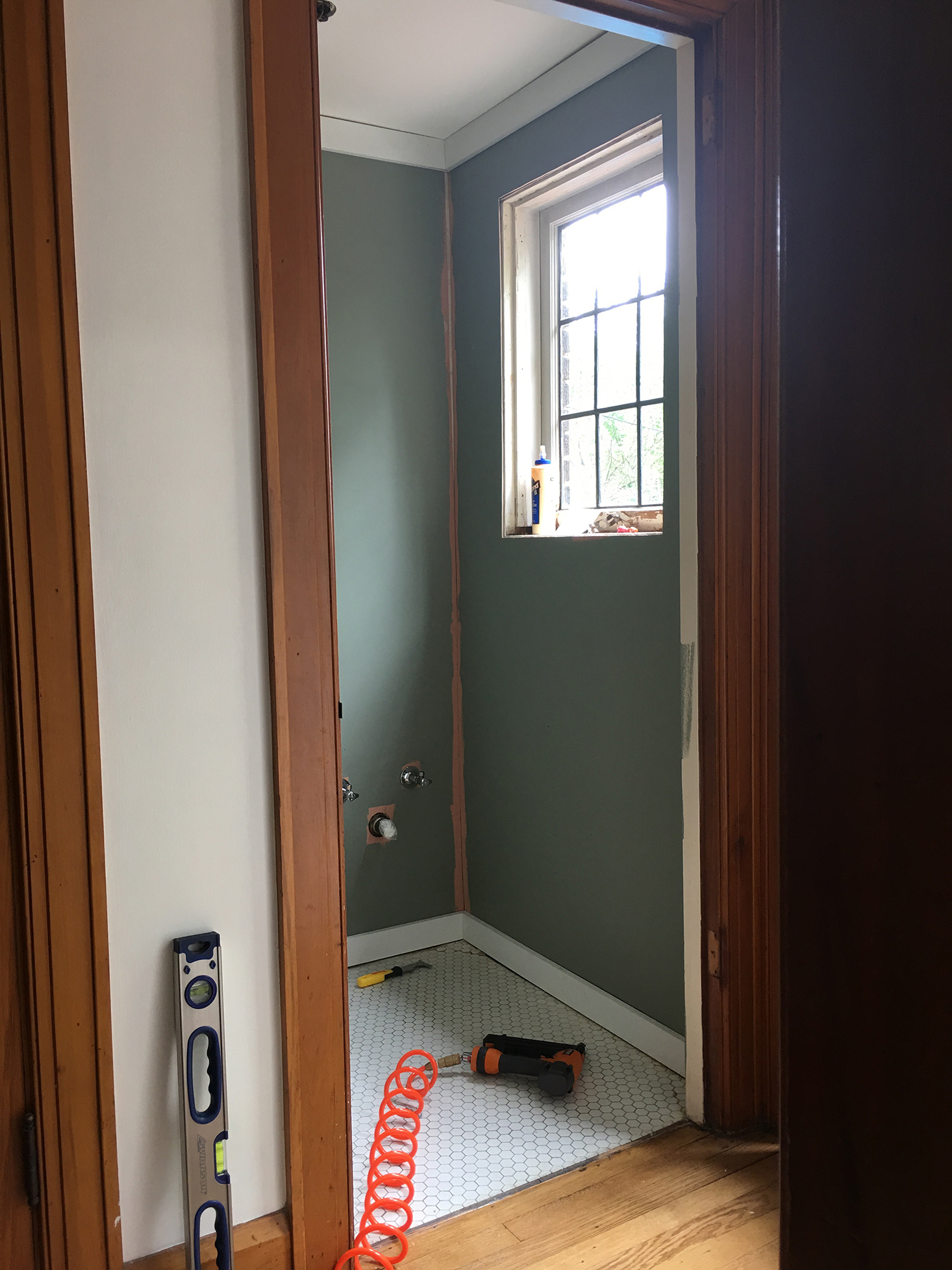 Base and Crown Molding in Place | The Sweet Beast Blog