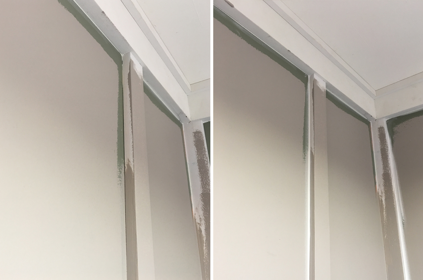 Caulking Before and After | The Sweet Beast Blog