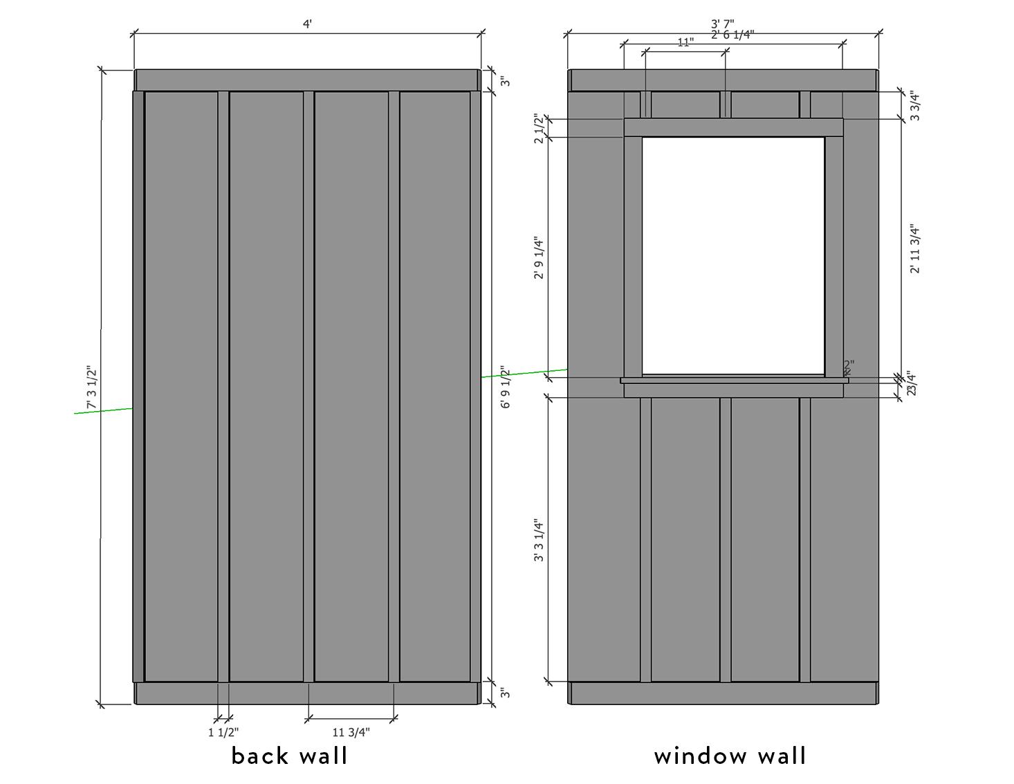 Powder Room Sketchup Plans | The Sweet Beast Blog