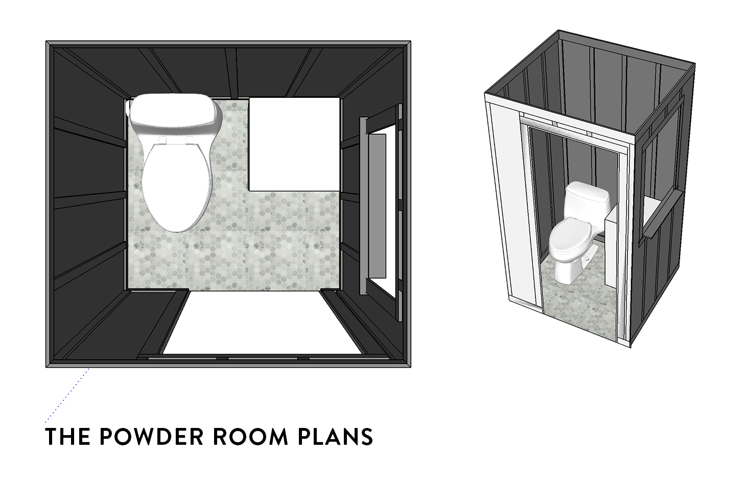 Powder Room Sketchup Plans | The Sweet Beast Blog