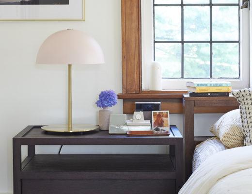 Large nightstand, modern mushroom lamp