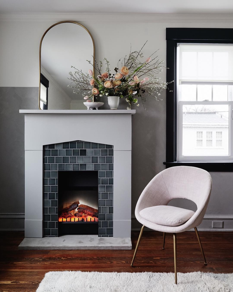 Nicole Cole vestige home fireplace surround electric insert