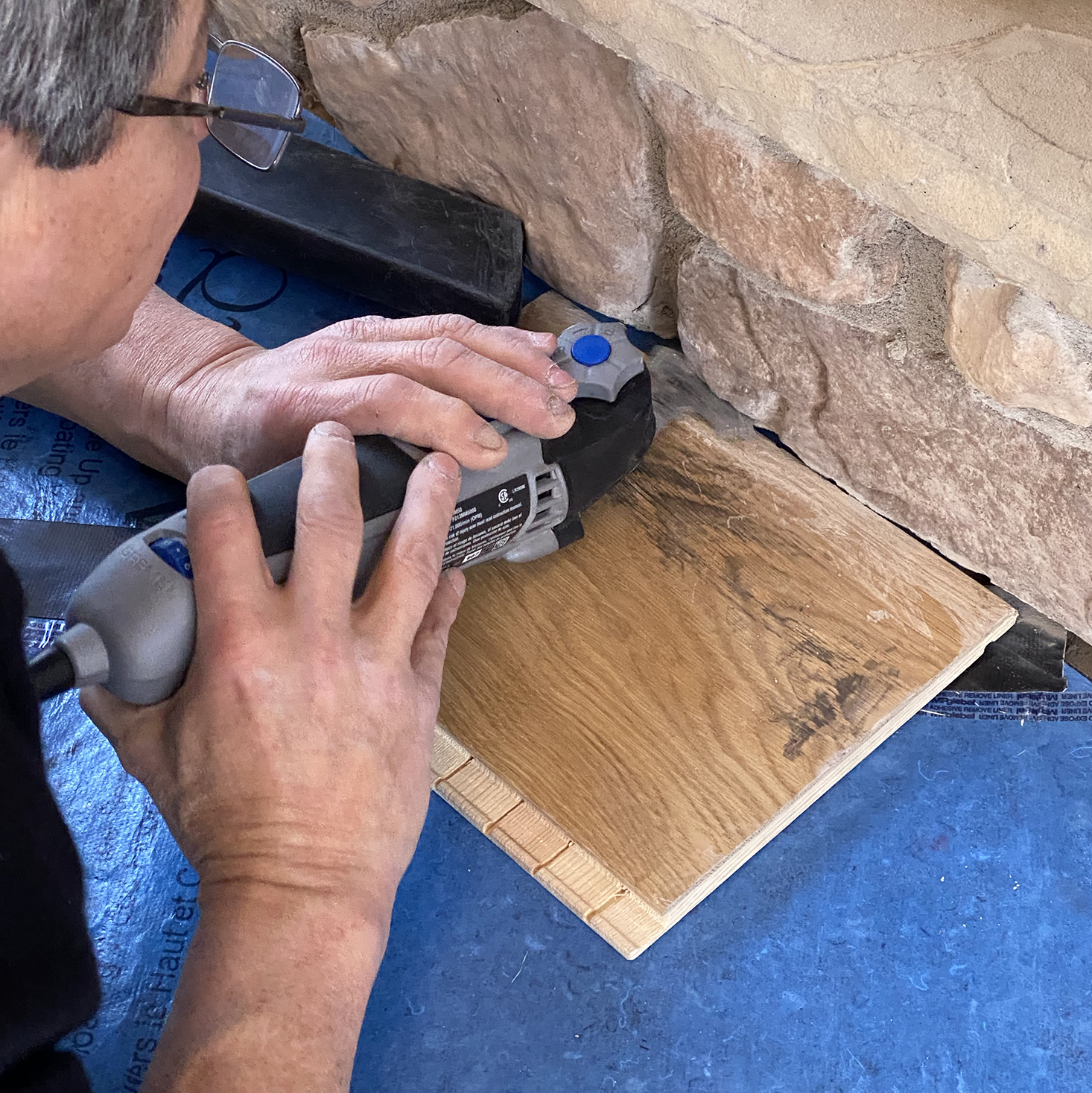 cutting cement stones with oscillating saw