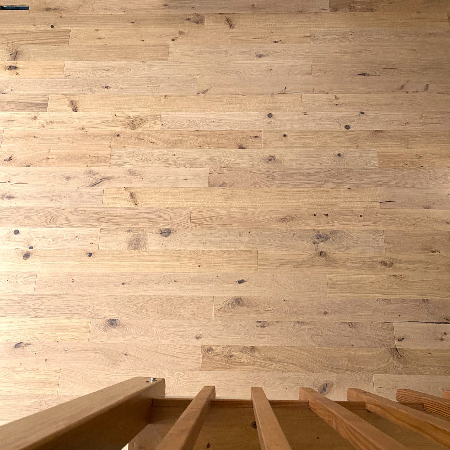 View of finished flooring from the loft
