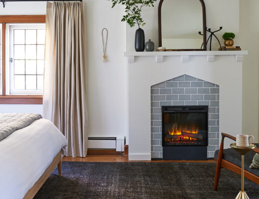 Bedroom electric fireplace