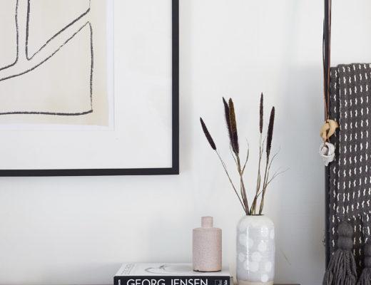 Abstract Art Mid Century Dresser Vignette