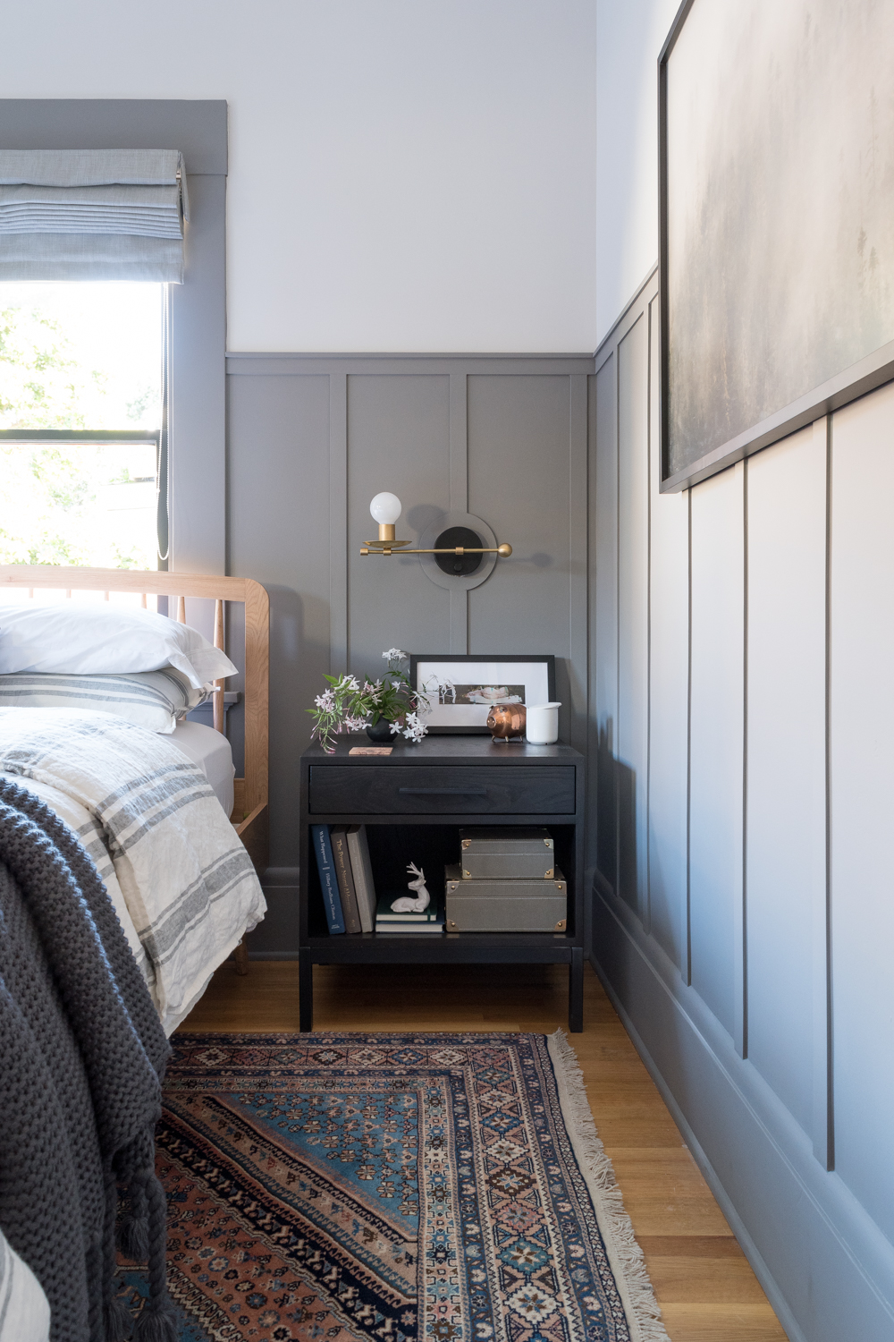 Gray board and batten bedroom | The Gold Hive
