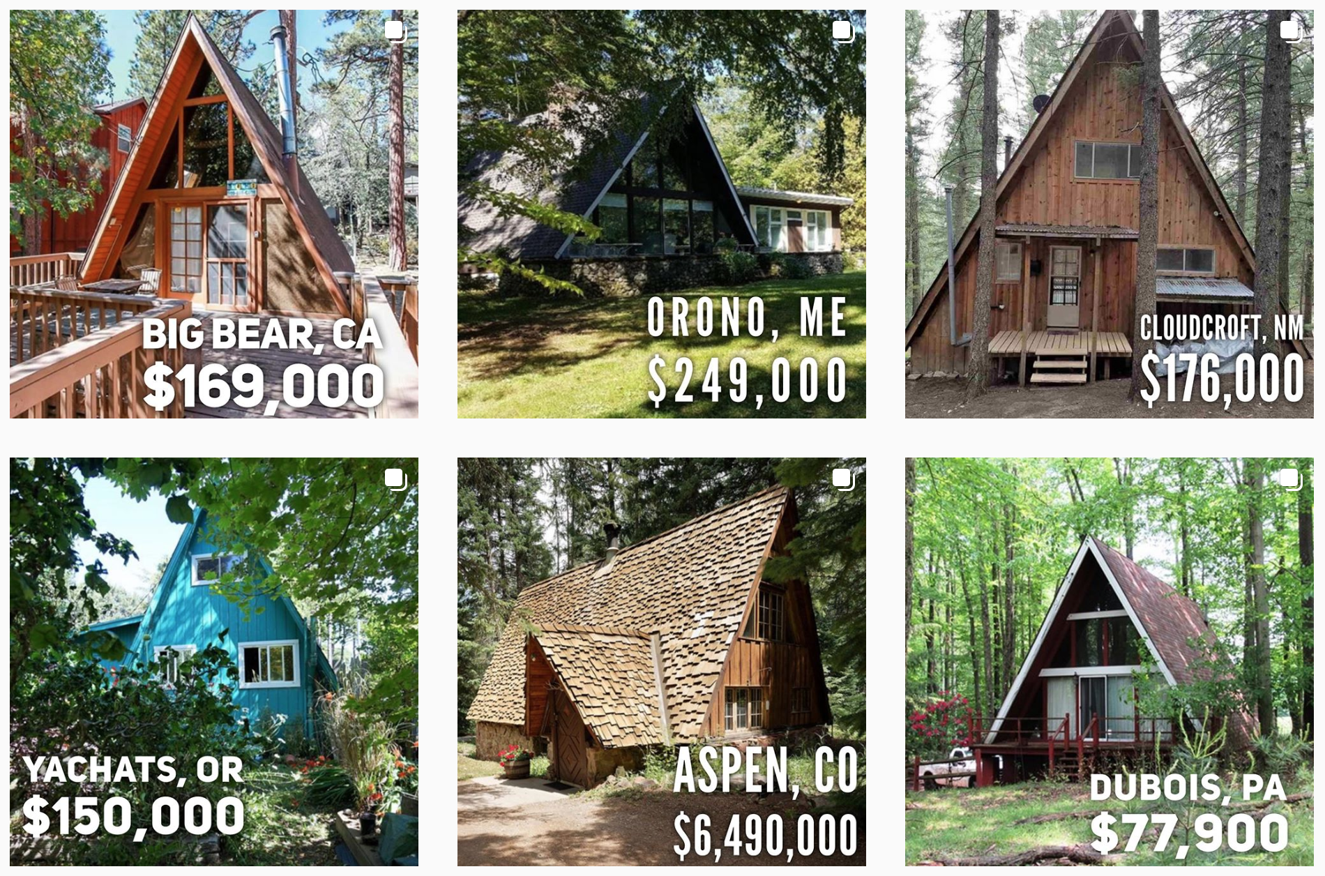 A-frame dreams instagram feed
