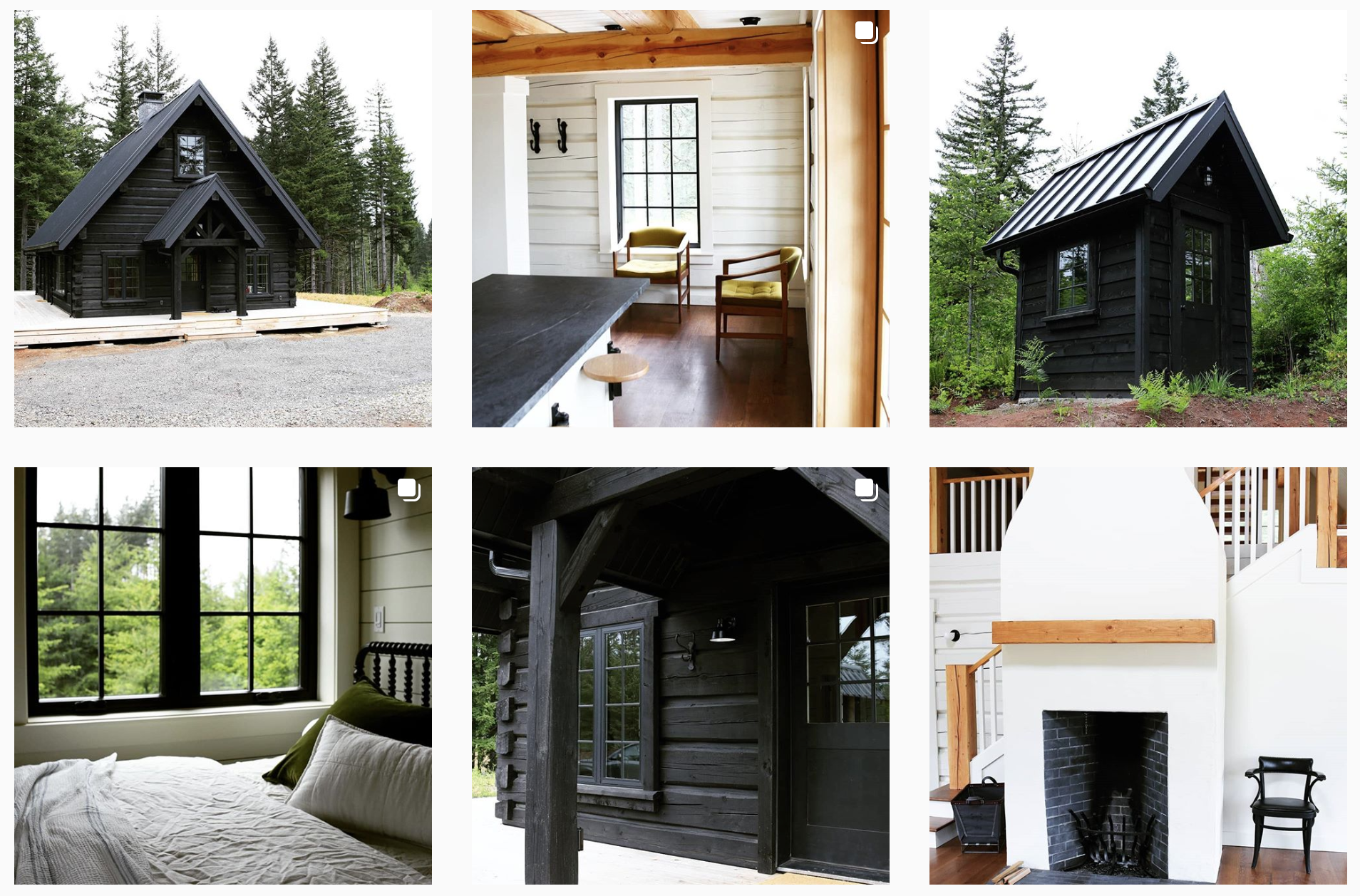 Blackwood cabin instagram feed grid