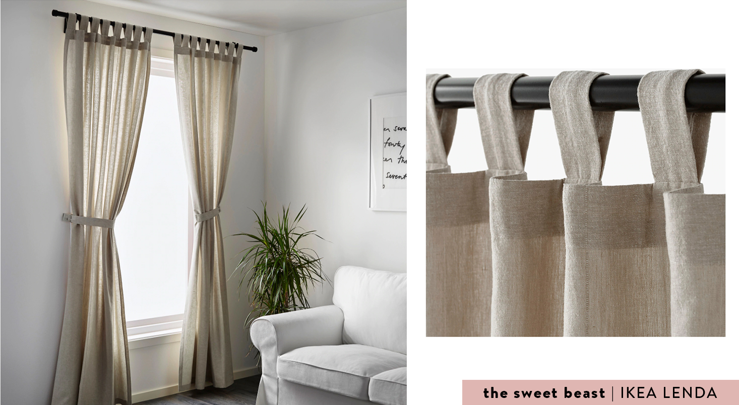 IKEA LENDA curtains light beige
