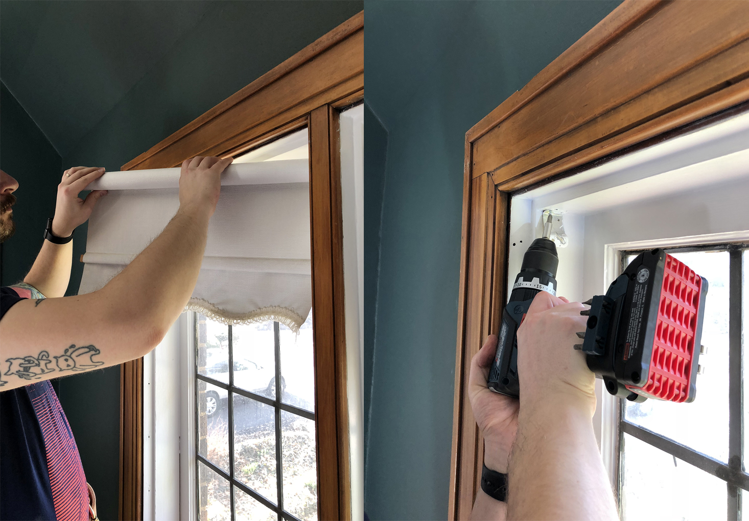 Removing old window blinds