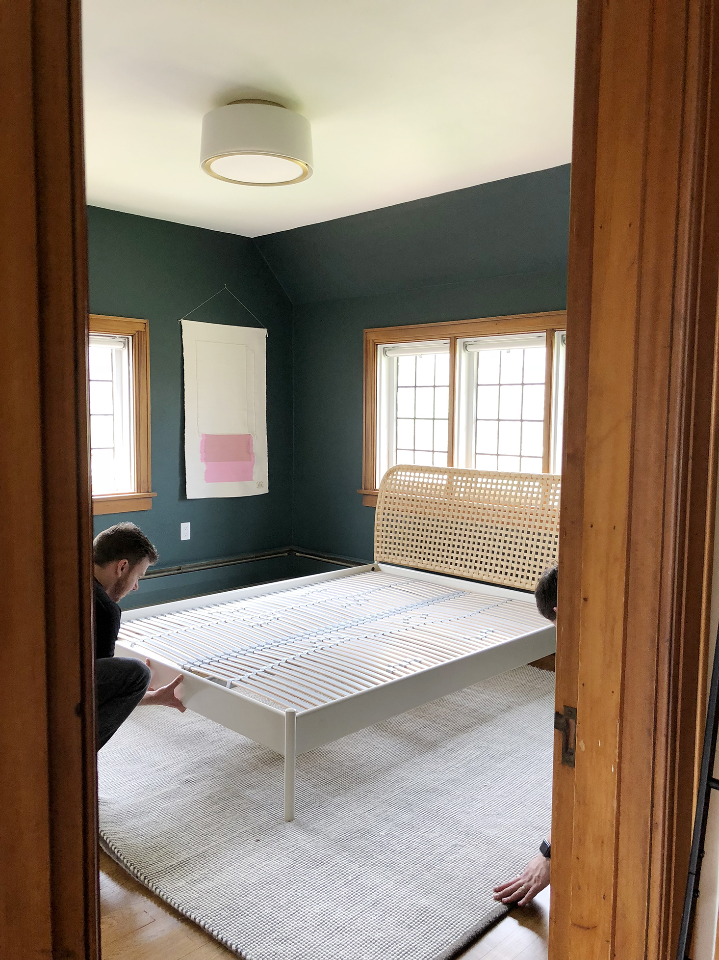 One Room Challenge Week 4 putting the bed in place