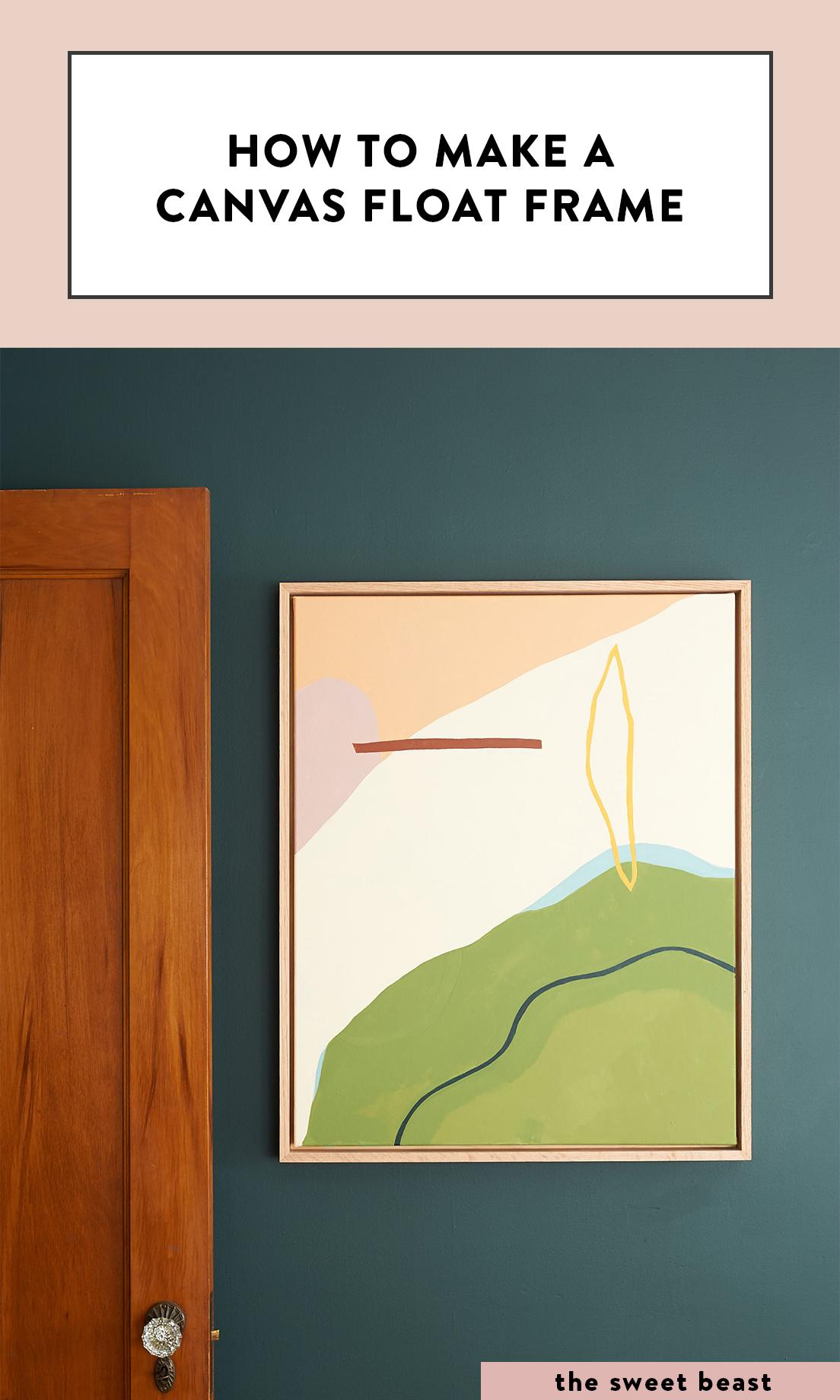 DIY Canvas Float Frame