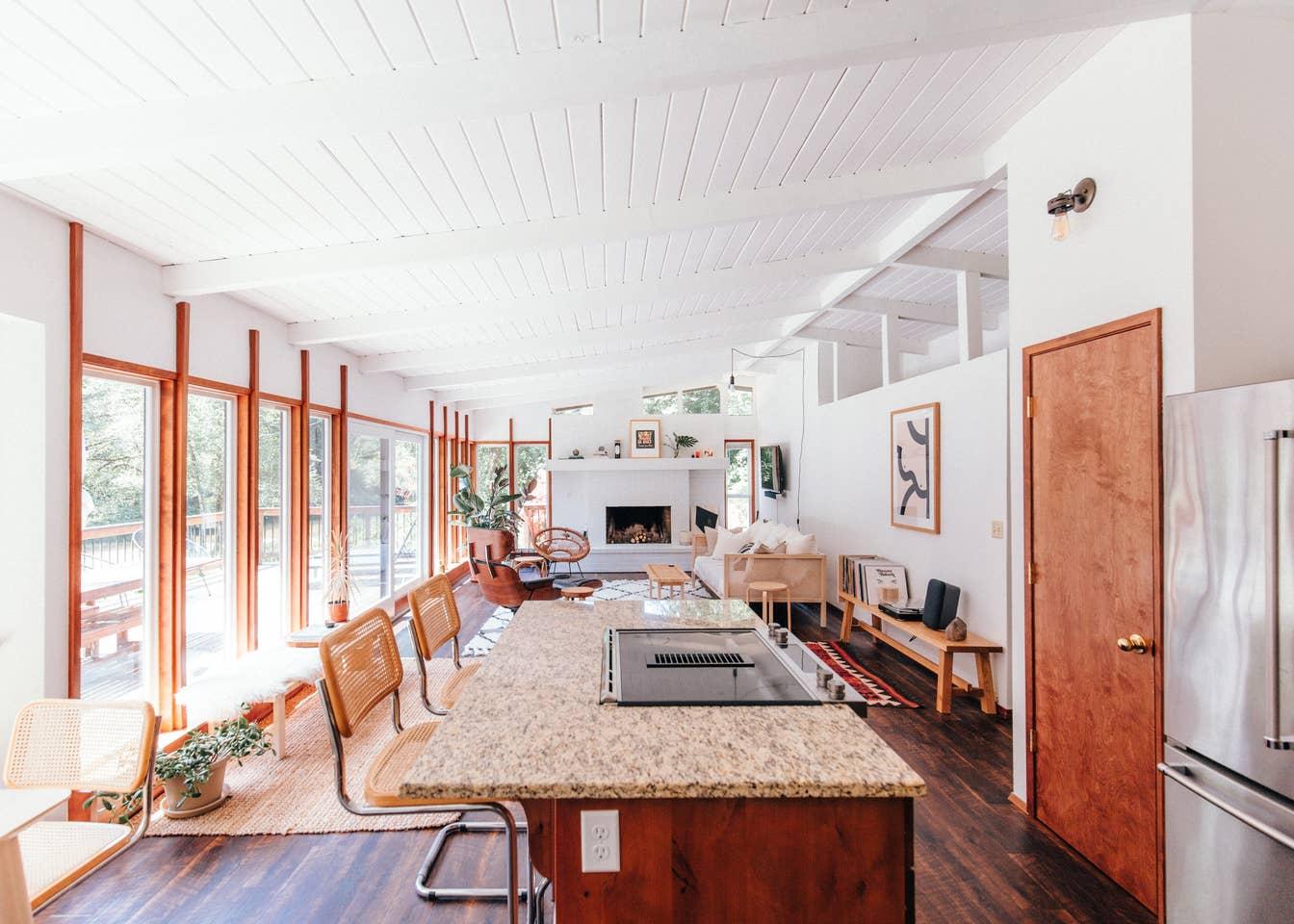MidCentury Cabin Living Room