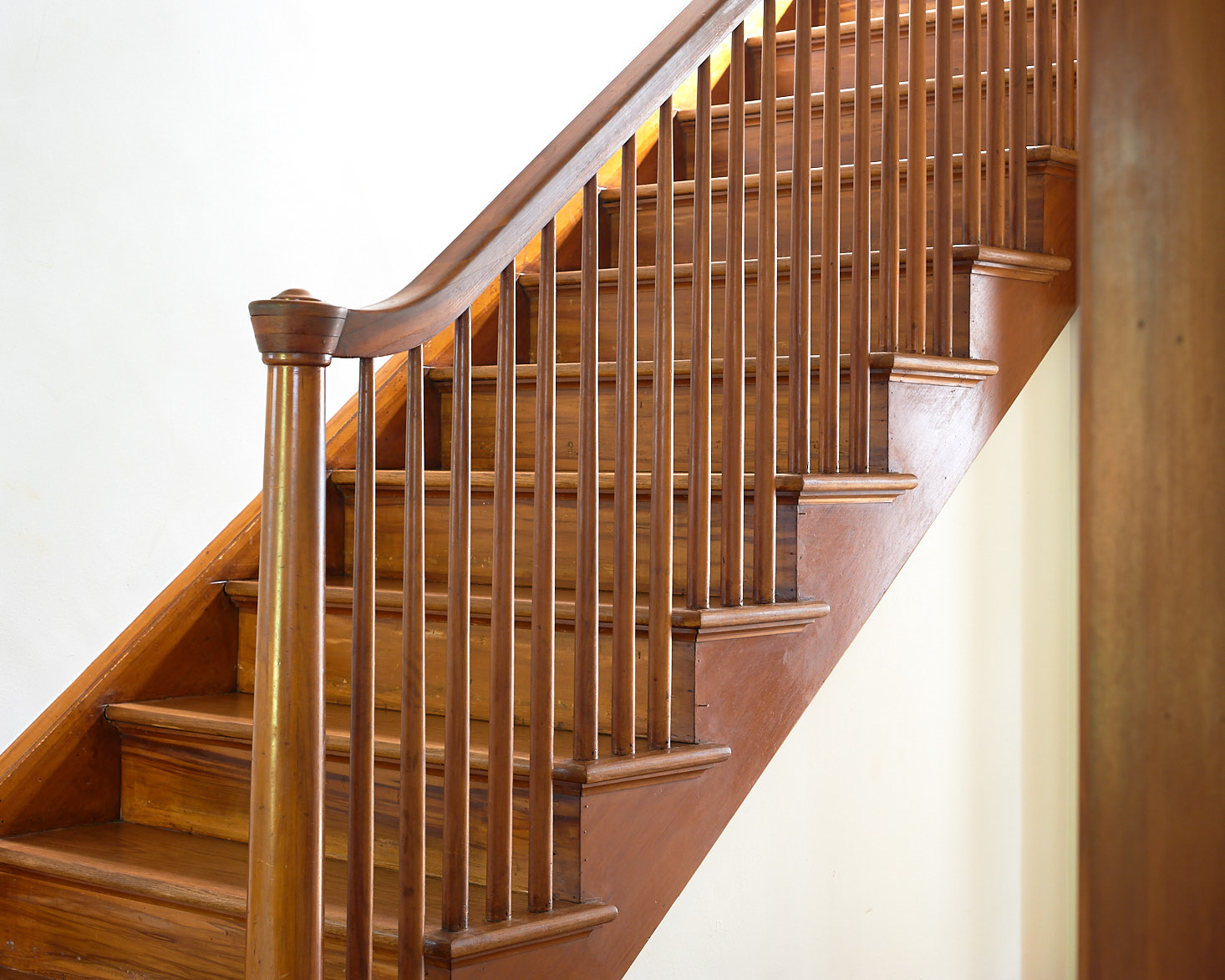 Wooden Staircase Before with Spindles