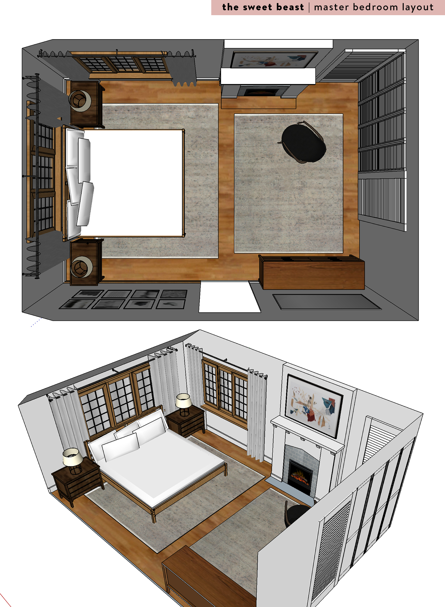 master bedroom layout skechup